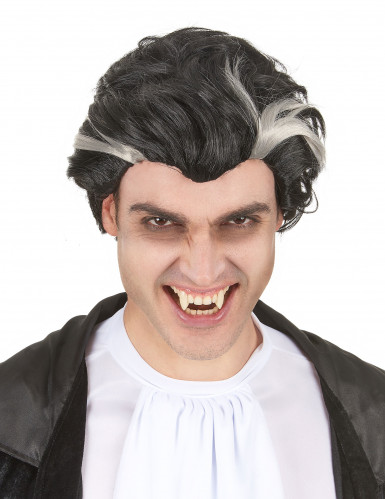 Parrucca Vampiro nera e bianca uomo