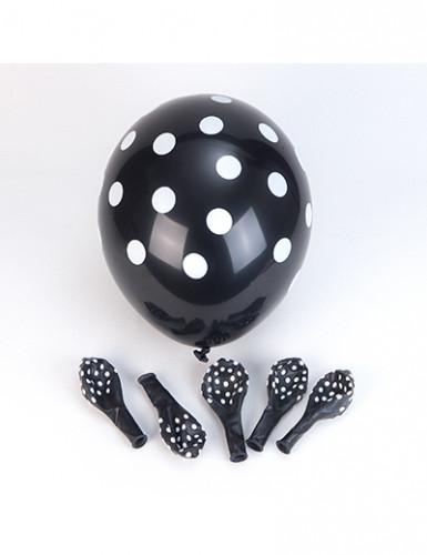 6 palloncini neri a pois