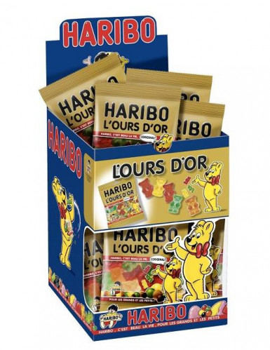 Mini sacchetto di caramelle Haribo orsi dorati