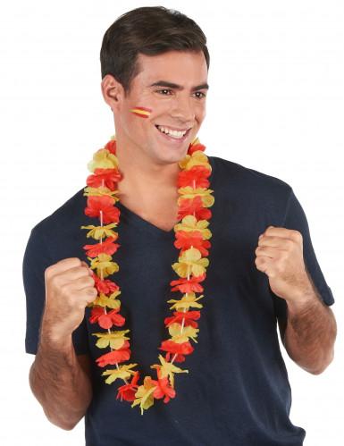 Collana hawaiana tifosi Spagna per adulto-1
