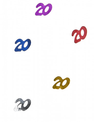 Coriandoli da tavola multicolori numero 20
