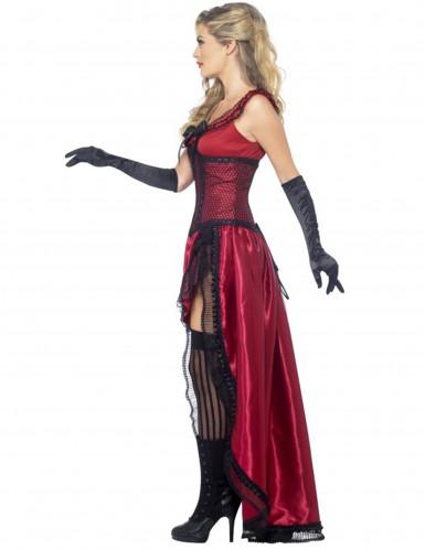 Costume ballerina saloon sexy rosso donna-1