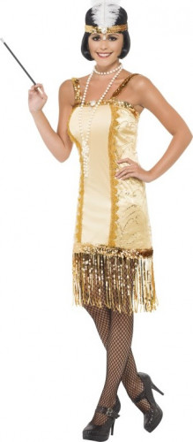 Costume Charleston dorato donna