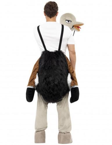 Costume umoristico uomo a cavallo di uno struzzo adulto-2