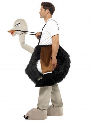Costume umoristico uomo a cavallo di uno struzzo adulto-1