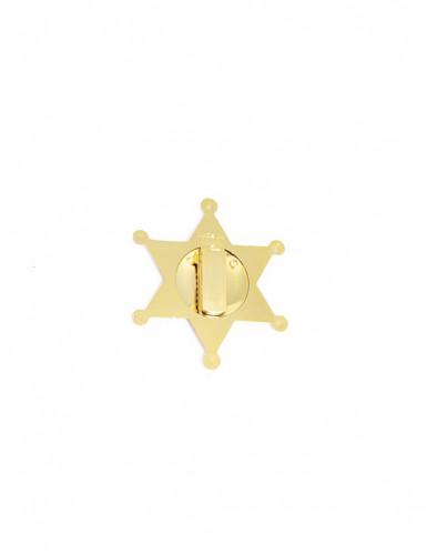 Stella da sceriffo oro per adulto-1
