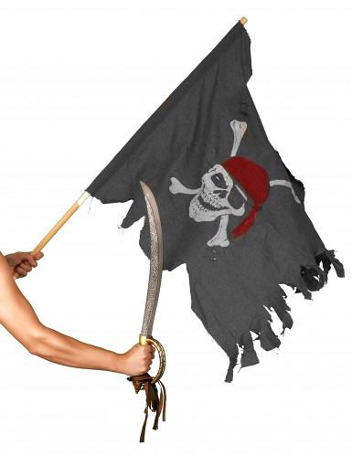 Bandiera Pirata con teschio-1