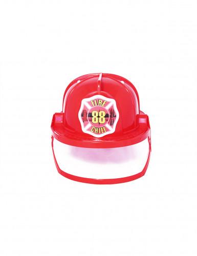 Casco rosso da Pompiere Adulto
