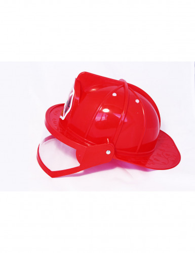 Casco rosso da Pompiere Adulto-1