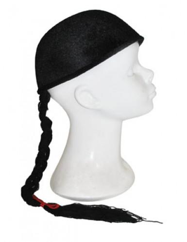 Cappello cinese con treccia-1