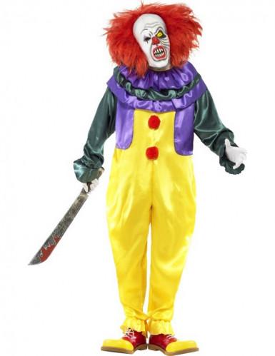 Costume clown assassino terrificante adulto