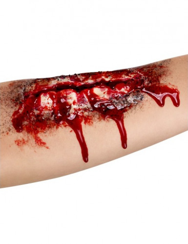 Finta ferita aperta avanbraccio