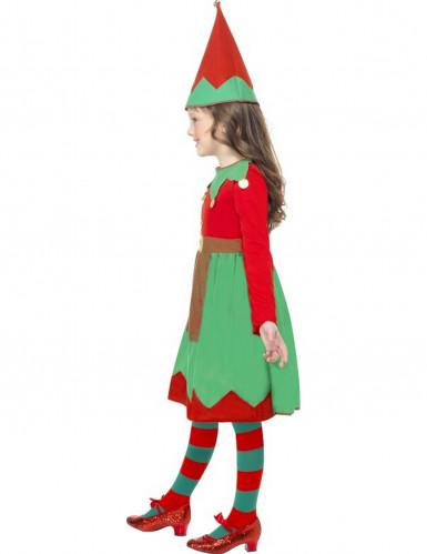 Costume elfo di natale bambina-1