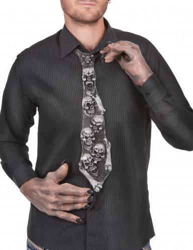 Cravatta teschi Halloween