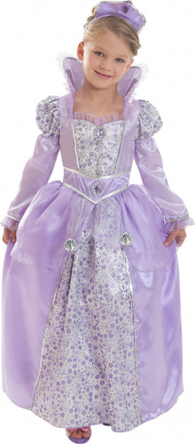 Costume regina lilla Corolle™bambina con cofanetto