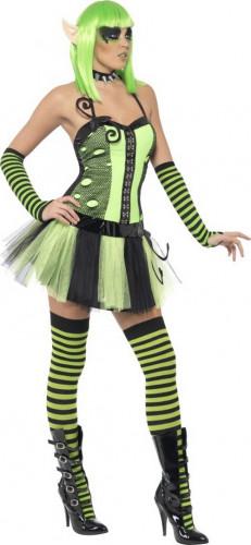 Costume elfo verde donna-1