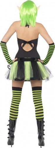 Costume elfo verde donna-2