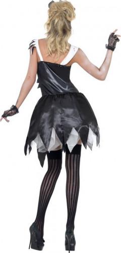 Costume zombie cameriera sexy donna halloween-2