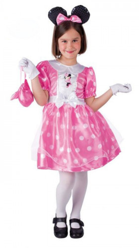Costume da Minnie™ rosa con accessori bambina