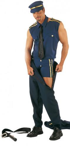 Costume spogliarellista poliziotto sexy uomo-1