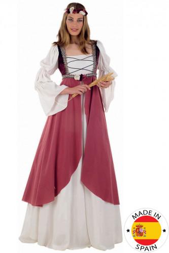 Costume medievale da donna rosa