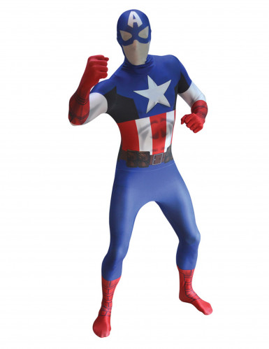 Costume seconda pelleCapitan America™ Adulto