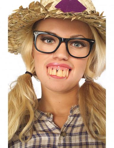 Dentiera denti enormi