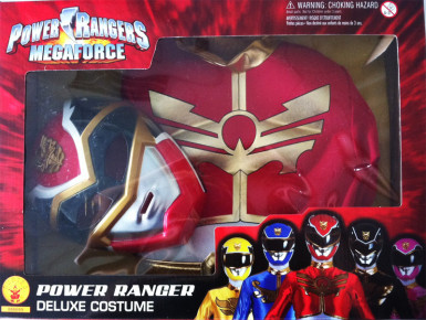 Costume Power Ranger Megaforce™ rosso bambino con cofanetto-1