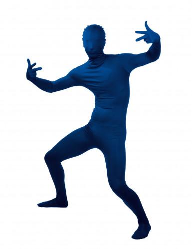 Costume seconda pelle blu adulto