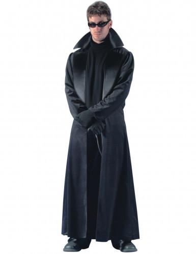 Costume lungo mantello nero uomo