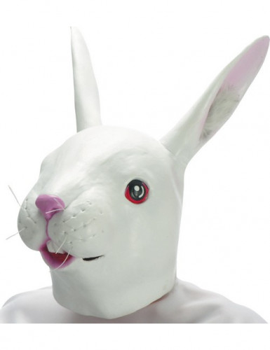 Maschera coniglio in lattice adulto