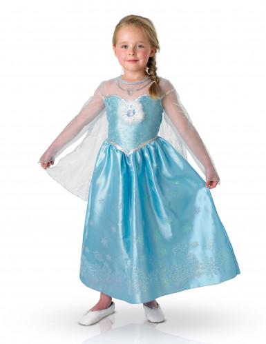Costume elsa frozen la regina delle nevi deluxe bambina