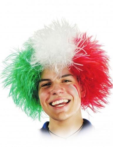 Parrucca tifoso Italia adulto