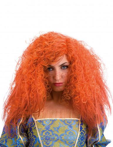 Parrucca riccia arancione donna