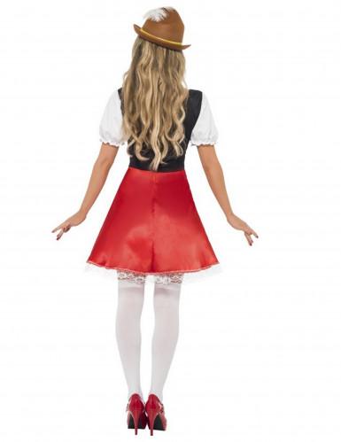 Costume bavarese rosso per donna-2