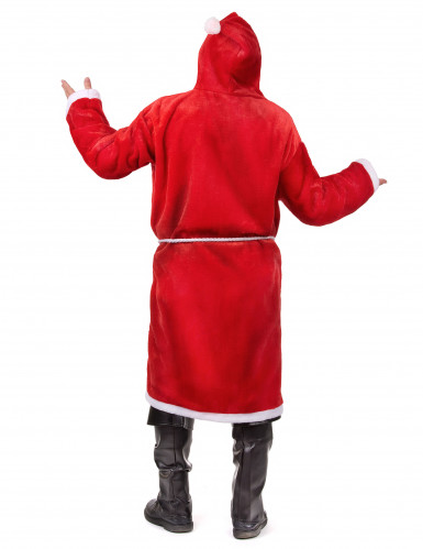Costume da babbo natale per adulto con cappuccio-2