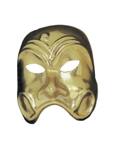 Maschera commedia dorata adulto
