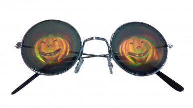 Occhiali metal con ologramma zucca-1