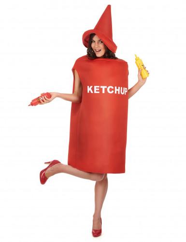 Costume da barattolo di ketchup adulto-1