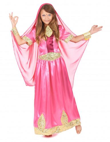 Costume da principessa indiana rosa per bambina