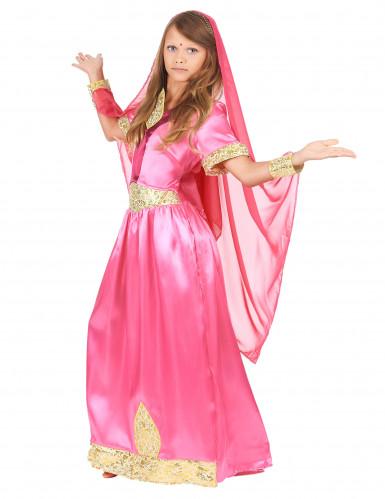Costume da principessa indiana rosa per bambina-1