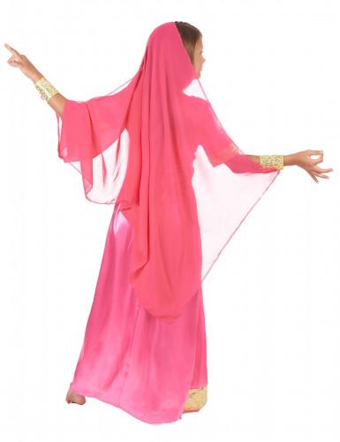 Costume da principessa indiana rosa per bambina-2
