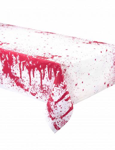 Tovaglia bianco con macchie di sangue finta Halloween
