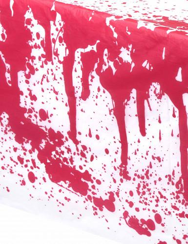 Tovaglia bianco con macchie di sangue finta Halloween-1