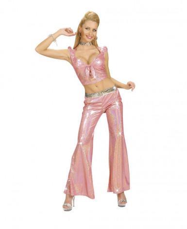Top costume disco rosa donna