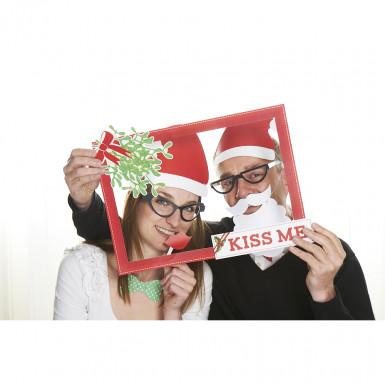 Kit photobooth Natale : Kiss me