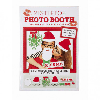 Kit photobooth Natale : Kiss me-2