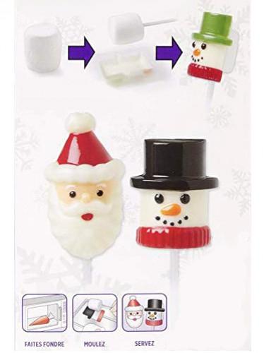 Formine per marshmallow Babbo Natale/Omino di neve-1
