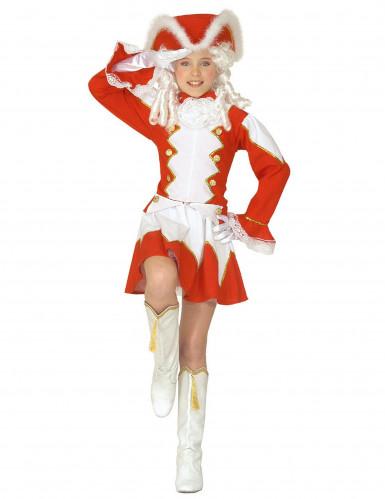 Costume majorette rosso bambina