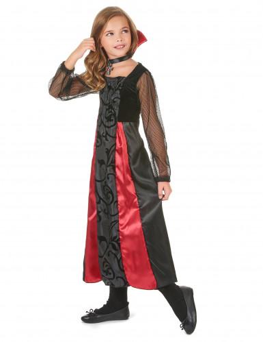 Costume Vampiro con ricami per bambina-1